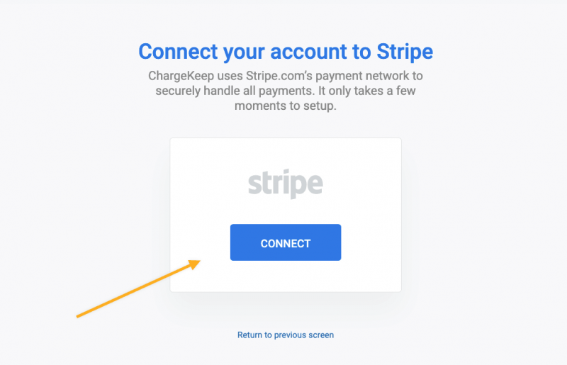 Connect Stripe account