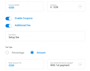 Flexible recurring payment options