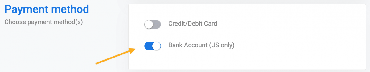 ACH payments Stripe
