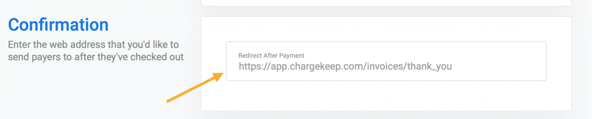 Redirect after payment - Stripe