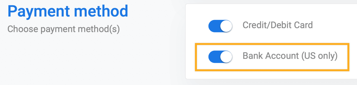 Stripe ACH payments