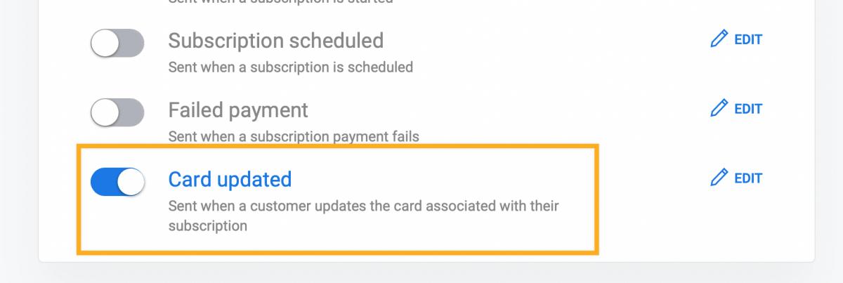Update customers credit card in Stripe